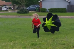 Running with a parachute